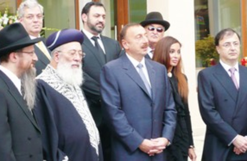 311_Azerbaijan, Aliyev and Leviev (photo credit: Tal Rabina)