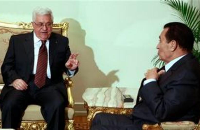 Abbas and Mubarak 311 AP (photo credit: AP)