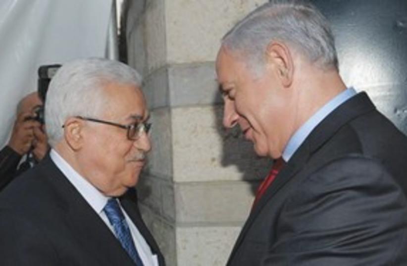 Abbas and Netanyahu 311 (photo credit: ASSOCIATED PRESS)