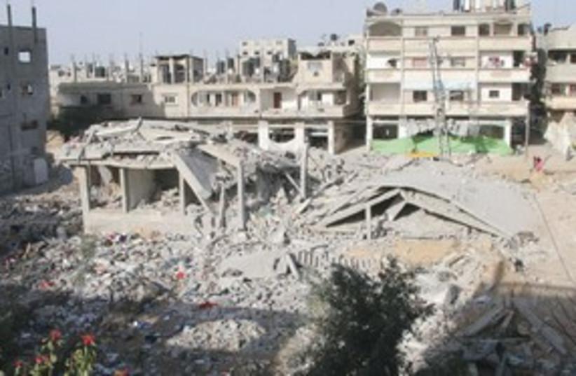 Gaza Ruins 311 (photo credit: MCT)