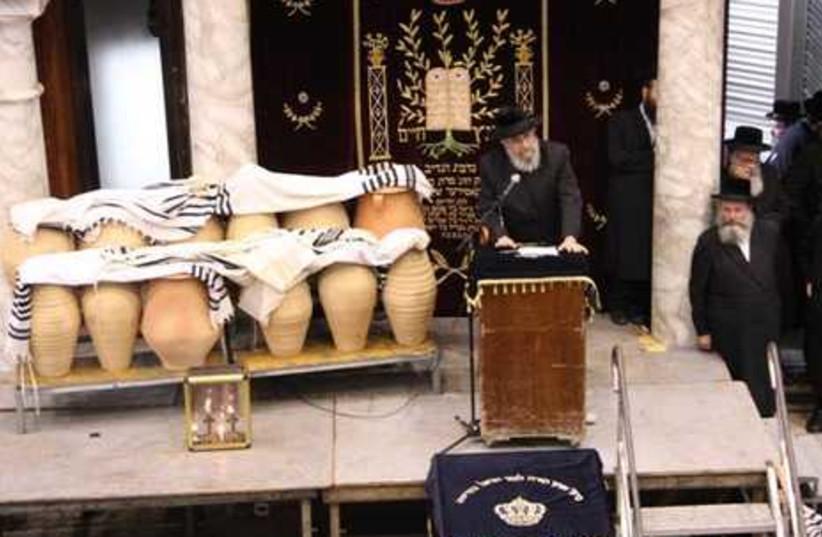 Rabbi speaks at funeral