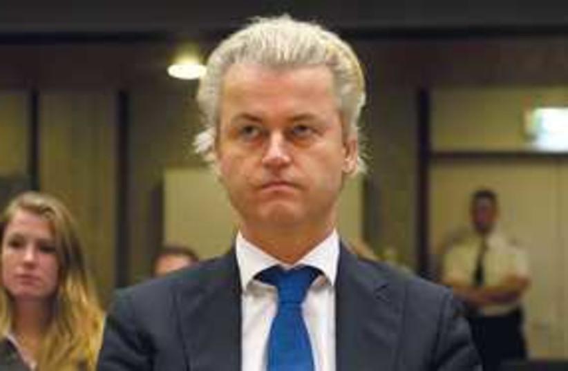 Geert Wilders serious 311 (photo credit: Marcel Antonisse/AP)