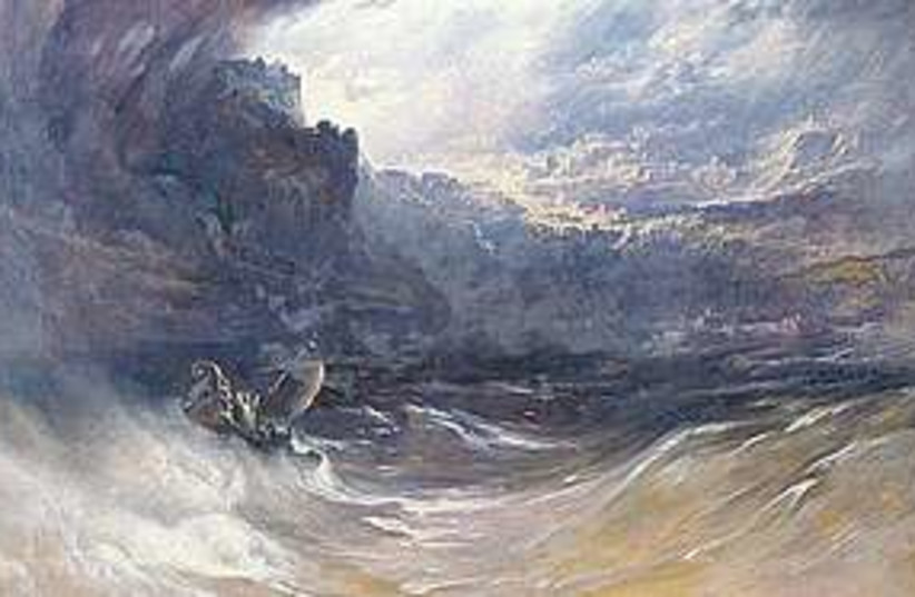 Noah and the flood (photo credit: John Martin)