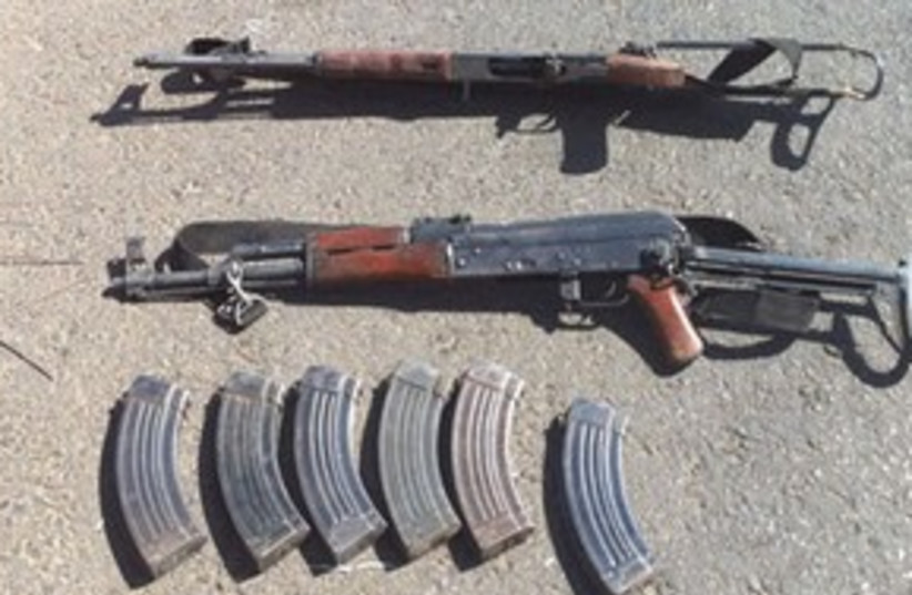311_Ak47s from hebron Hamas (photo credit: Courtesy of IDF Spokeperson's Unit)