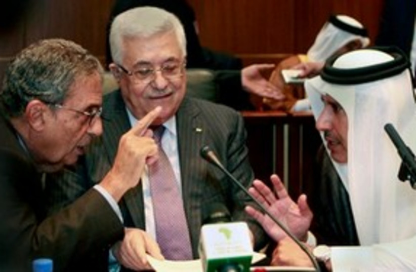 Abbas and Moussa 311 (photo credit: Associated Press)