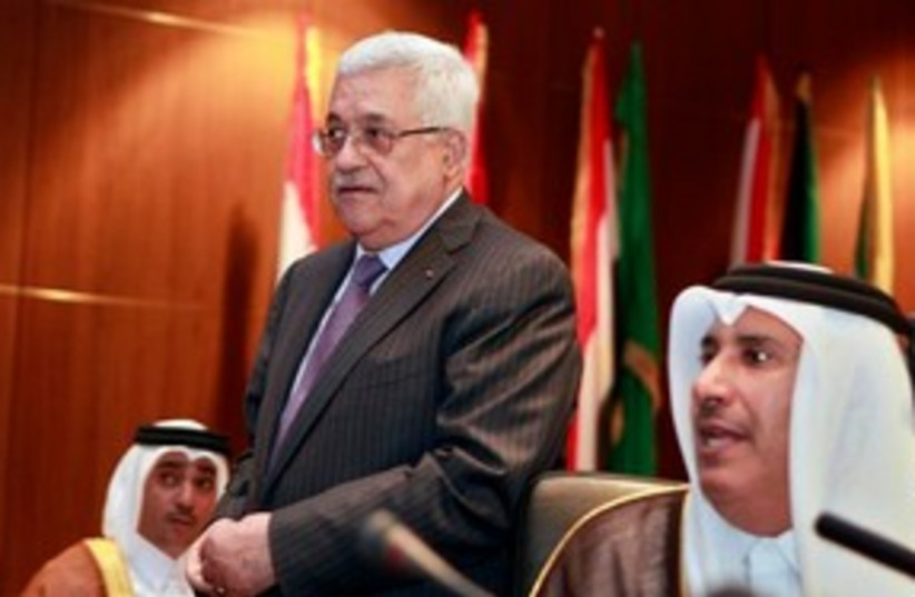 Abbas at Arab League 311 AP (photo credit: AP)