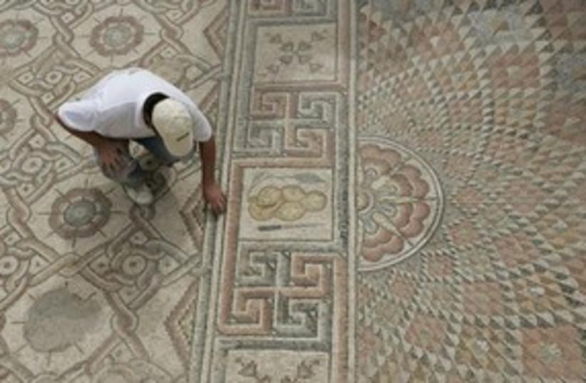 Jericho mosaic 311 AP (photo credit: AP)