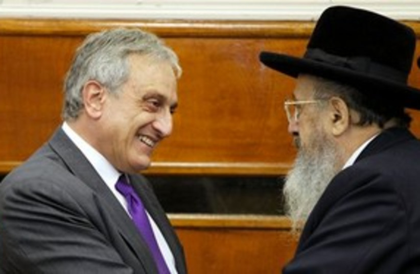 Paladino with Orthodox 311 (photo credit: ASSOCIATED PRESS)