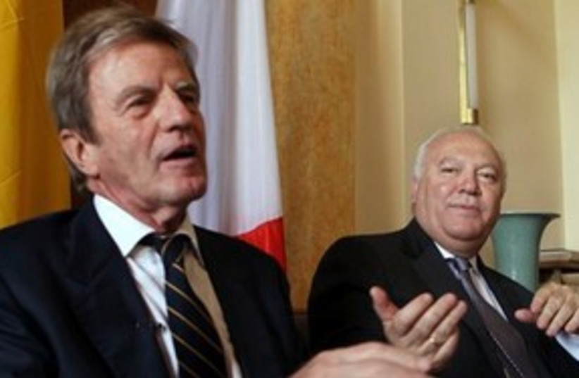 Kouchner and Moratinos 311 (photo credit: Associated Press)