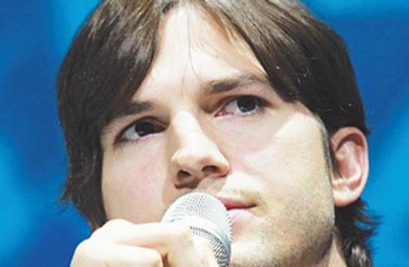 Ashton Kutcher (photo credit: Ronen Tofelberg)