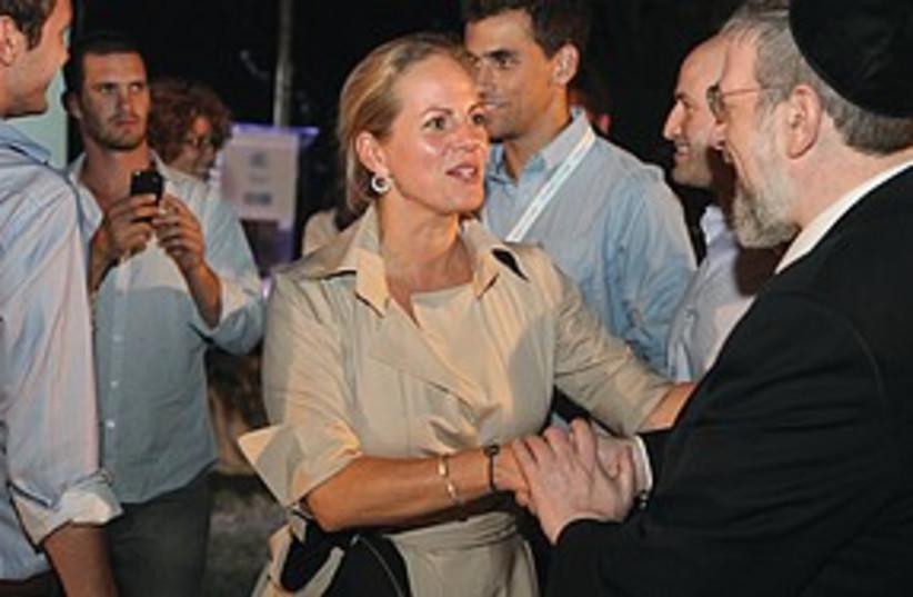 Baroness Ariane de Rothschild (photo credit: Ben Hartman)