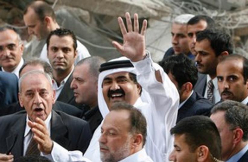 The Emir of Qatar 311 (photo credit: DIMITRI MESSINIS (AP))