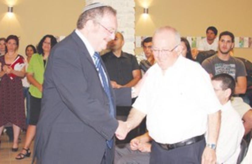 Herschkowitz with Uzi Wechsler 311 (photo credit: Courtesy)