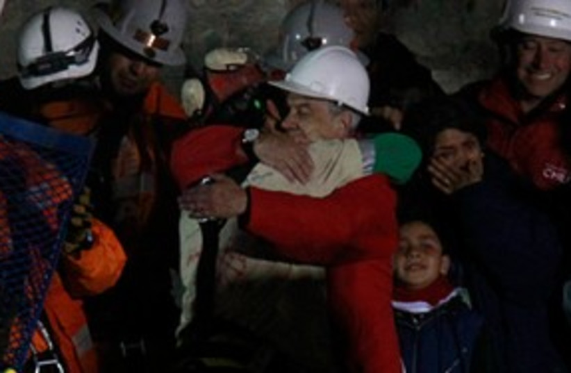 Chile miner freed 311 (photo credit: ASSOCIATED PRESS)