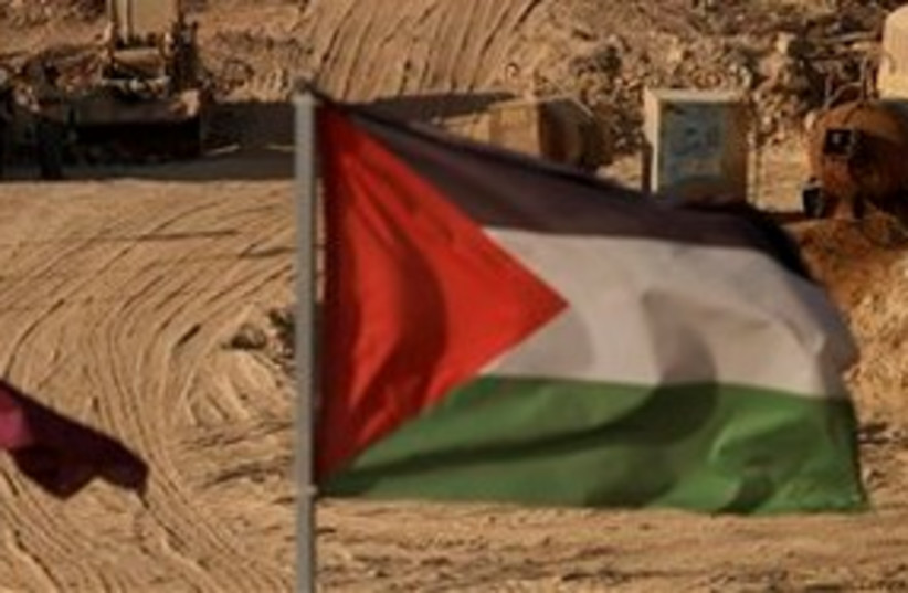 Palestinian flag 311 AP (photo credit: Associated Press)