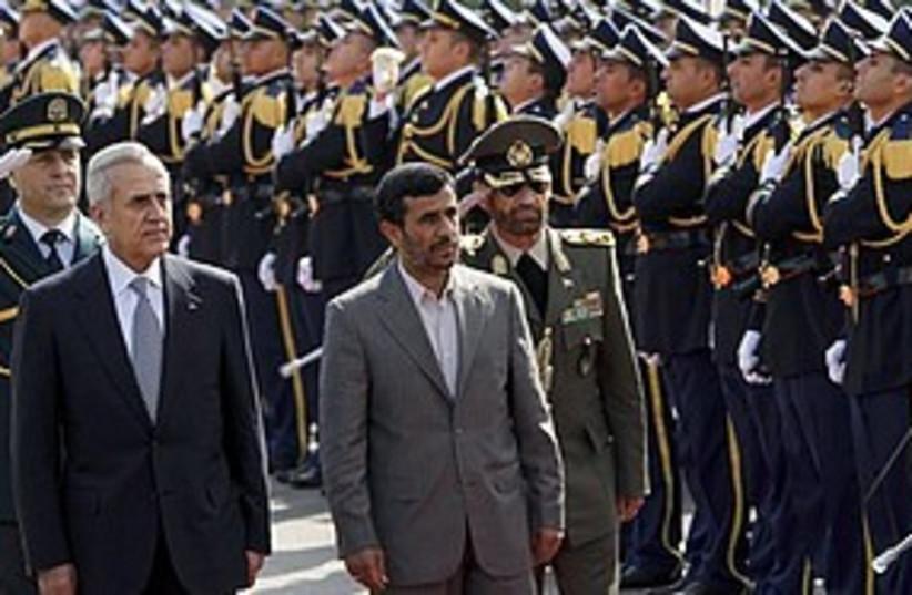 Ahmadinejad Lebanon honor guard 311 AP (photo credit: Associated Press)