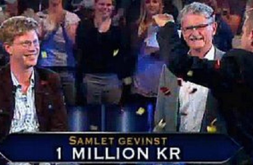Who wants to be a millionaire Denmark (photo credit: Screenshot)