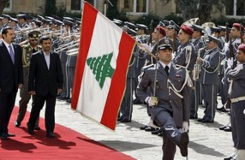 Ahmadinejad Lebanon 311 AP (photo credit: Associated Press)