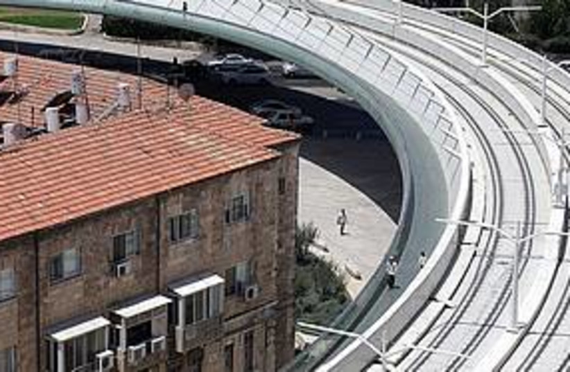 Light rail Bridge of Strings (photo credit: Marc Israel Sellem)