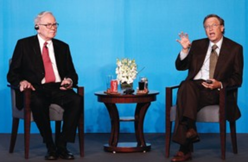 Gates and Buffet 311 (photo credit: Associated Press)