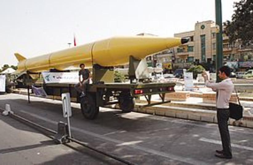 shibab 3 missile 311 (photo credit: AP)