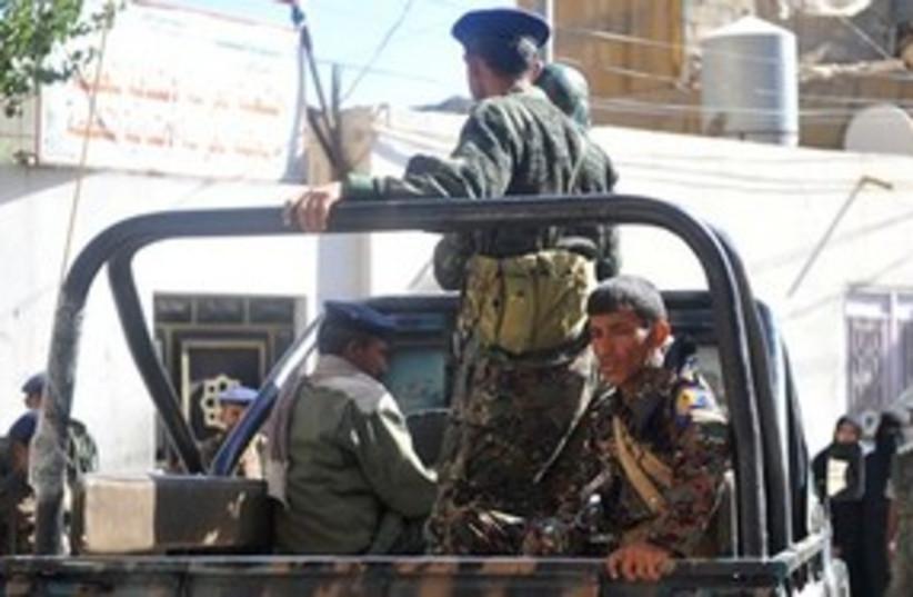 Yemeni policemen 311 (photo credit: AP Photo)