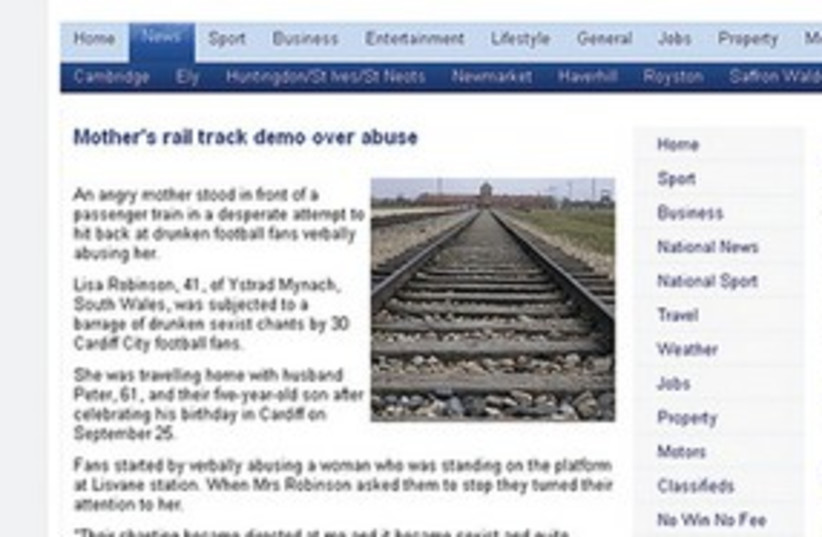 311_death camp in paper (photo credit: 'Cambridge News' website)