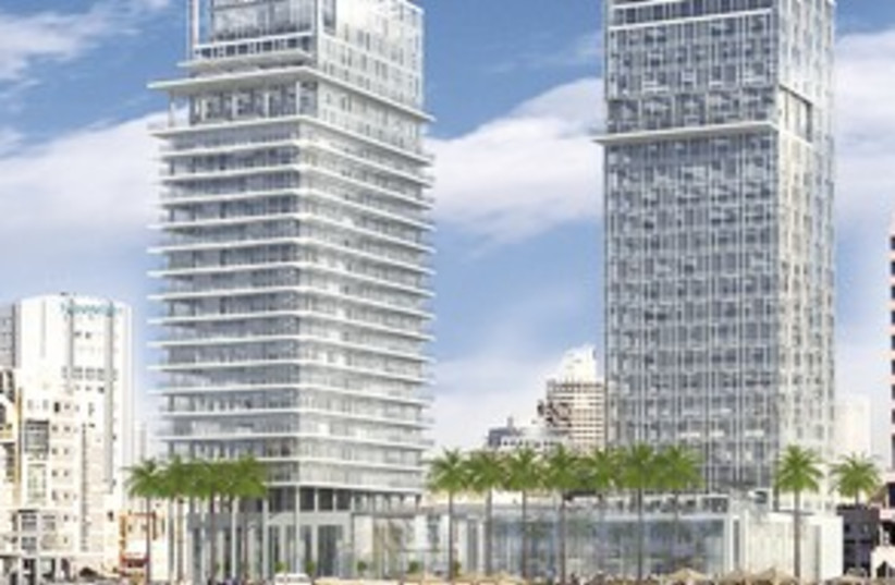 311_Planned Kempinski hotel drawing (photo credit: Courtesy of Globes)