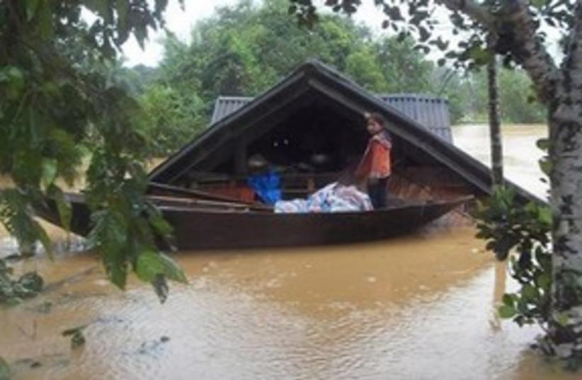 Vietnam flooding (photo credit: AP)