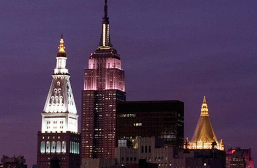 Empire State Building shines Pink