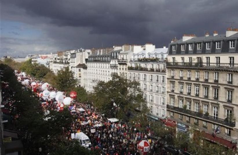 France retirement strike