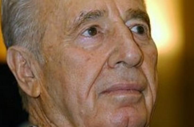 Peres head 311 (photo credit: Ariel Jerozolimski)