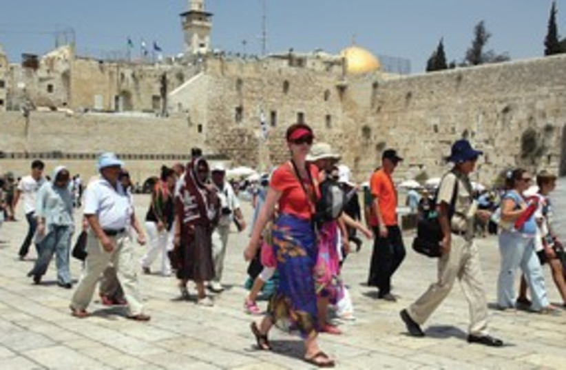 Tourists at Kotel 311 (photo credit: Marc Israel Sellem)