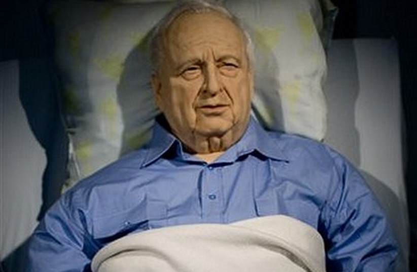 A life sized replica of former PM Ariel Sharon