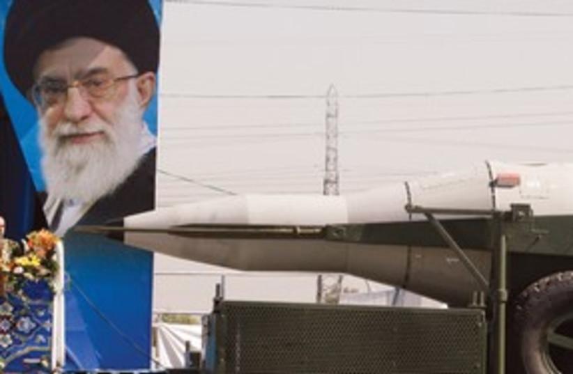 Ayatollah and Missile 311 (photo credit: ASSOCIATED PRESS)