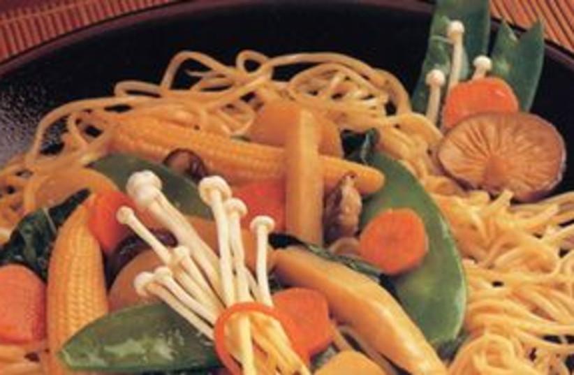 "Stir Fried 311 (photo credit: from ""Sensational Pasta"" by Faye Levy; photo deGen)"