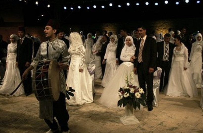 Palestinian wedding drummer
