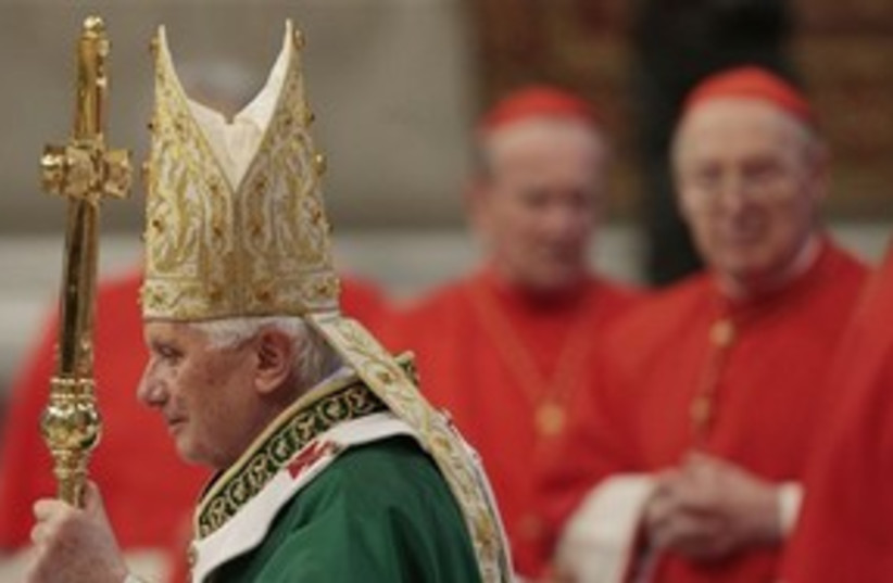 Pope in red 311 AP (photo credit: AP)