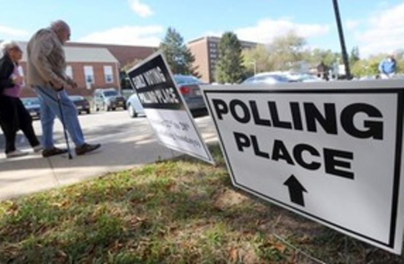 US Polling station 311 (photo credit: AP Photo/Steve Ruark, File)