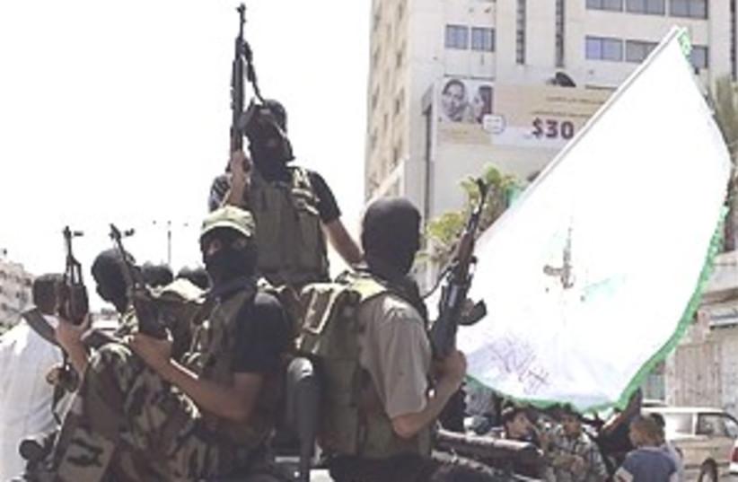 Hamas gunmen 298.88 (photo credit: AP [file])