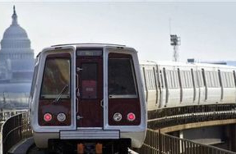 Washington DC metro 311 AP (photo credit: AP)