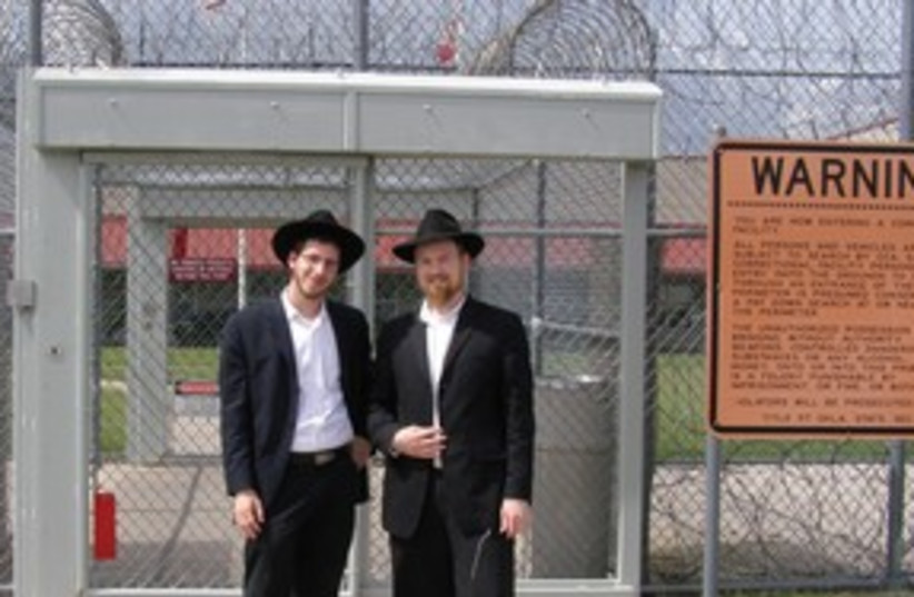 Chabad in prison (photo credit: Paul Ross)