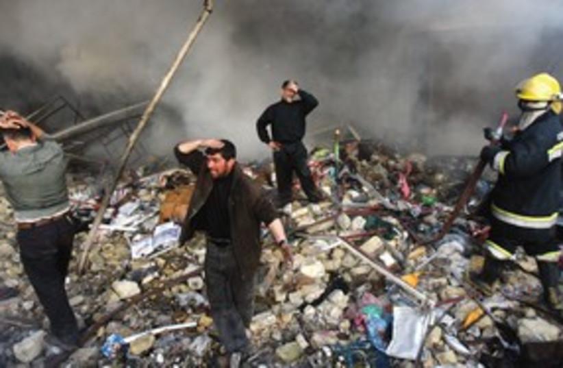 Despair and rubble 311 AP (photo credit: AP)