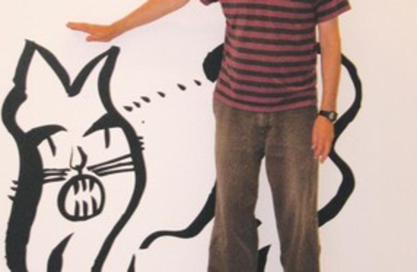 Ya'akov Kaufman cartoon cat exibit 311 (photo credit: Carl Hoffman)