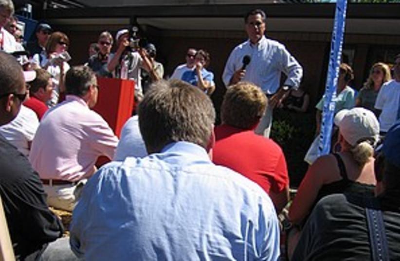 romney in iowa 298.88 (photo credit: Hilary Leila Krieger)