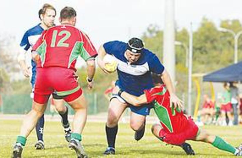 Israel's national rugby team (photo credit: Roey Kamiel)
