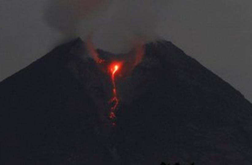 Indonesia Volcano Night 311 (photo credit: Associated Press)