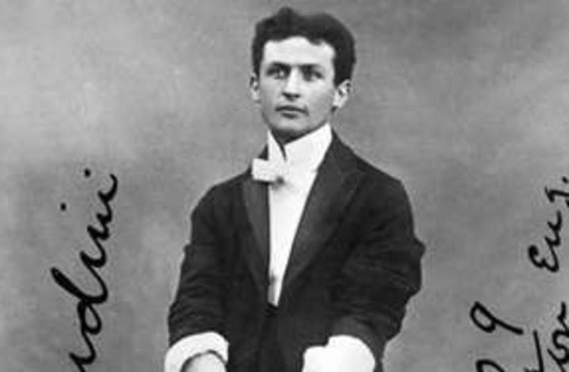 Houdini in handcuffs 311 AP (photo credit: AP)