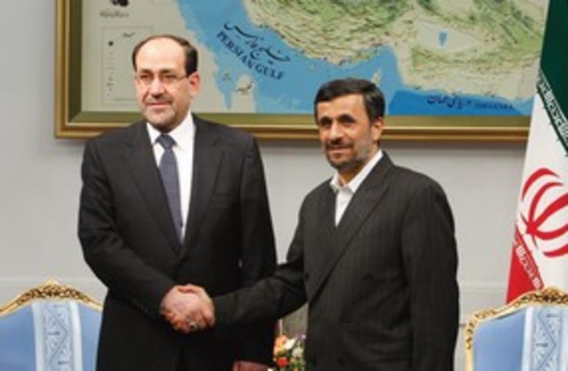 311_maliki and ahmadinejad (photo credit: Associated Press)