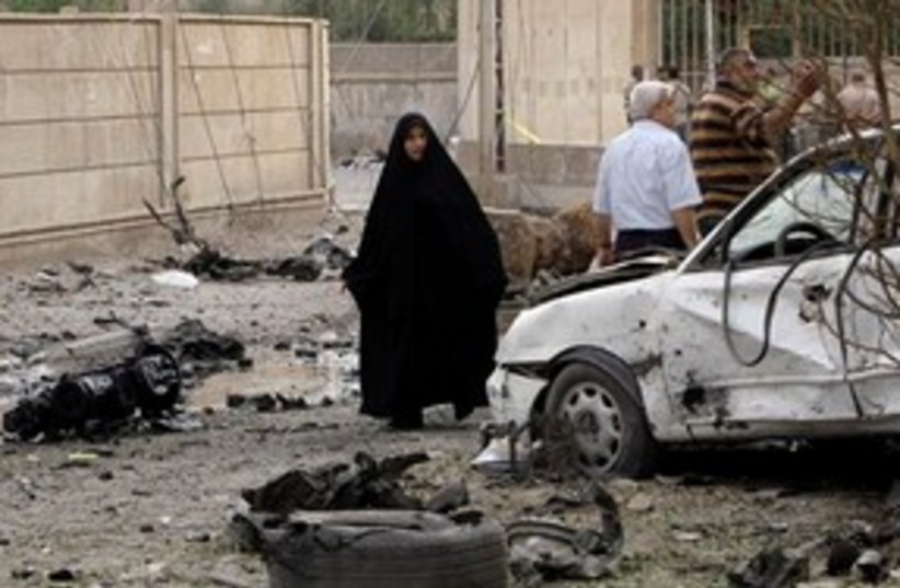 Iraq Church attack (photo credit: AP)